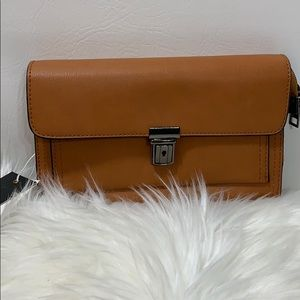 Isabelle Vegan Mini Crossbody/ Wristlet Tan Bag